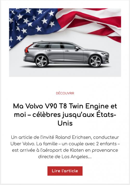 Ma Volvo V90 T8 Twin Engine et moi – célèbres jusqu'aux États-Unis