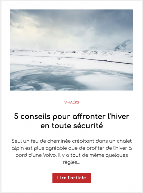 5 conseils pour affronter l'hiver en toute sécurité