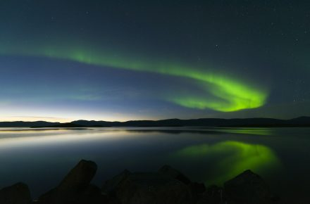 Schwedisch Lappland Volvo Cars Nordlicht