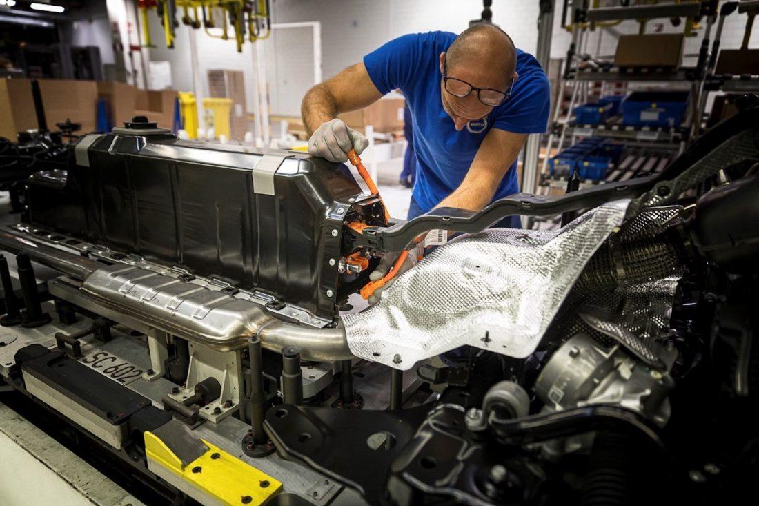 Volvo Saubere Batterie-Produktion