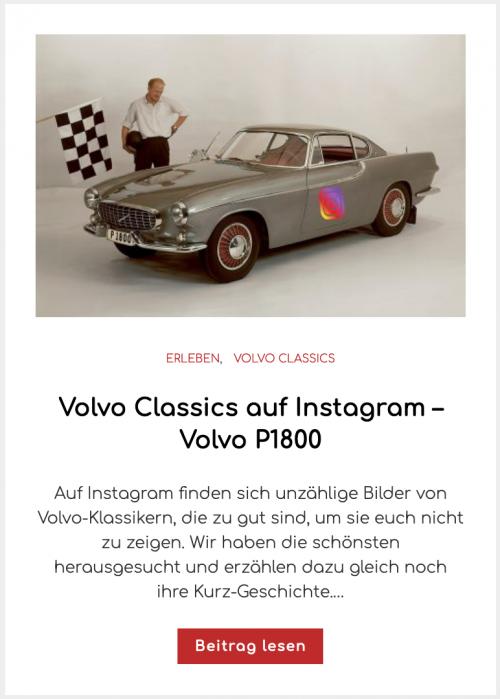 Volvo Classics auf Instagram – Volvo P1800