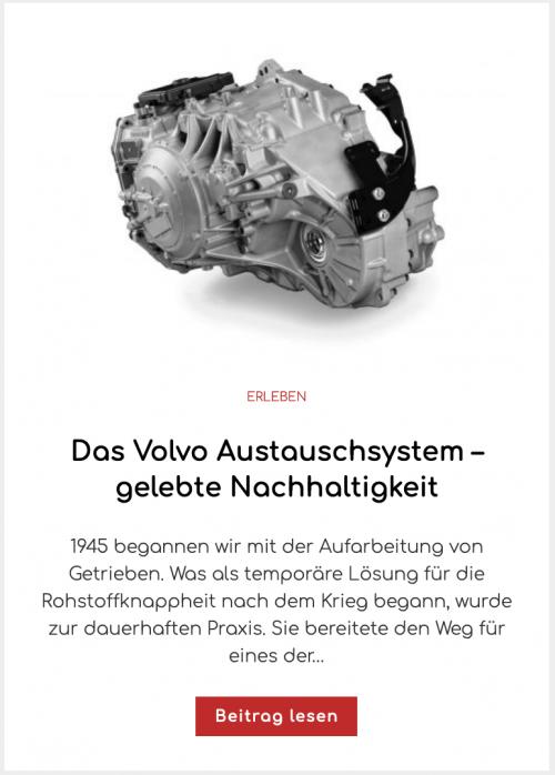 Das Volvo Austauschsystem – gelebte Nachhaltigkeit