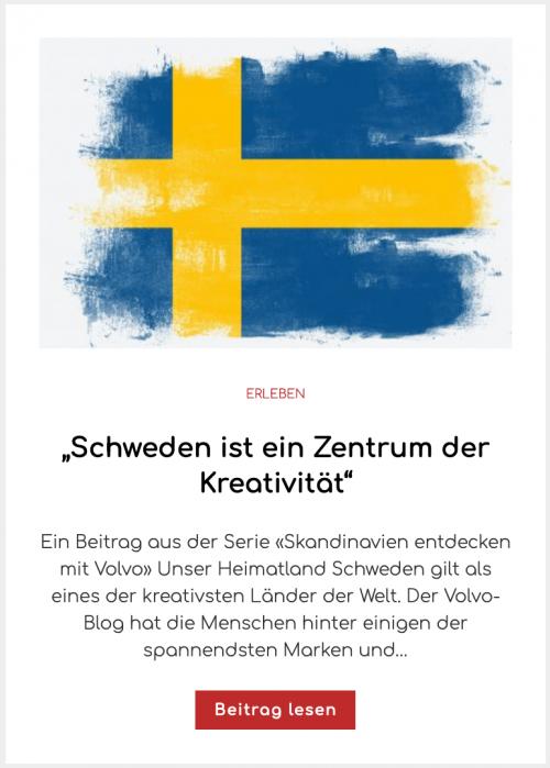 """""""Schweden ist ein Zentrum der Kreativität"""""""
