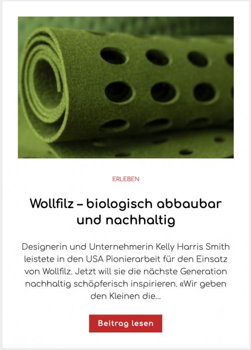 Wollfilz – biologisch abbaubar und nachhaltig