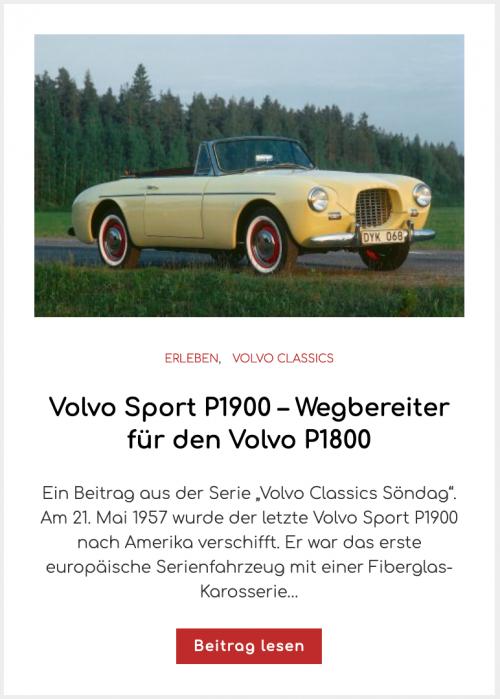 Volvo Sport P1900 – Wegbereiter für den Volvo P1800