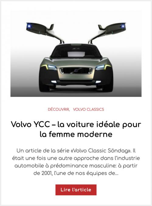 Volvo YCC – la voiture idéale pour la femme moderne