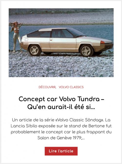 Concept car Volvo Tundra – Qu'en aurait-il été si…