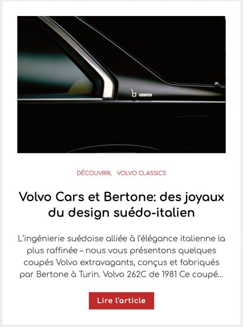 Volvo Cars et Bertone: des joyaux du design suédo-italien