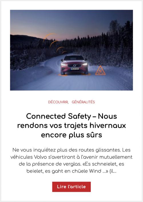 Connected Safety – Nous rendons vos trajets hivernaux encore plus sûrs