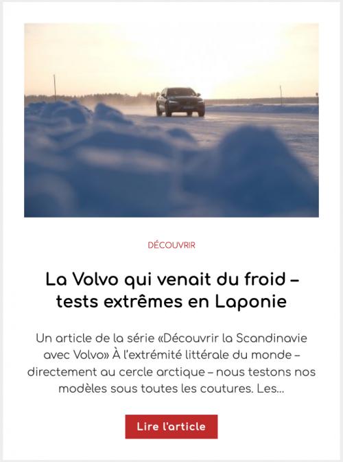 La Volvo qui venait du froid – tests extrêmes en Laponie
