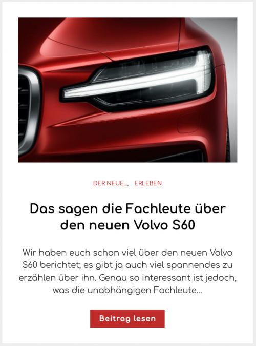 Das sagen die Fachleute über den neuen Volvo S60