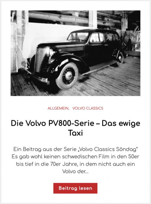 Die Volvo PV800-Serie – Das ewige Taxi