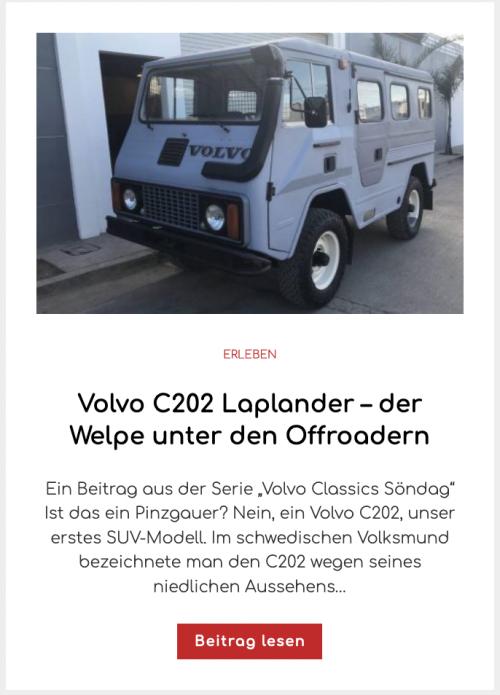 Volvo C202 Laplander – der Welpe unter den Offroadern