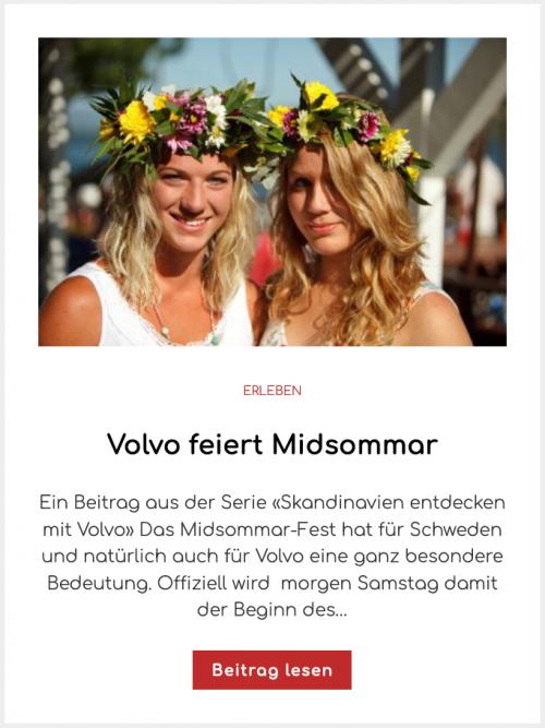 Volvo feiert Midsommar