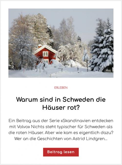 Warum sind in Schweden die Häuser rot?