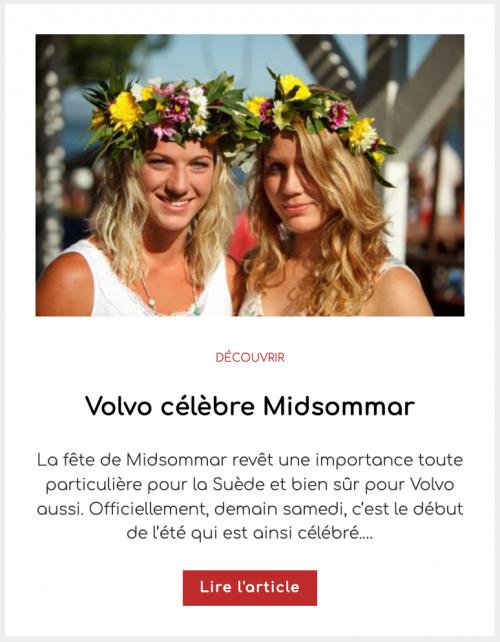 Volvo célèbre Midsommar