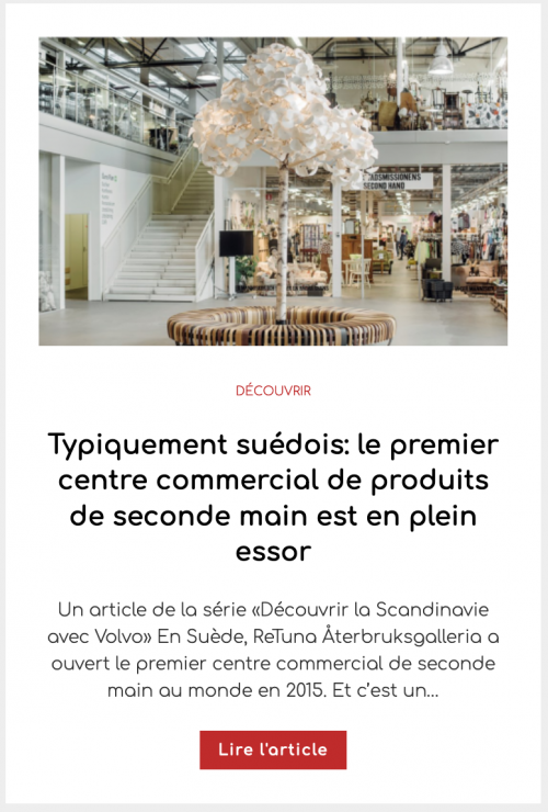 Typiquement suédois: le premier centre commercial de produits de seconde main est en plein essor