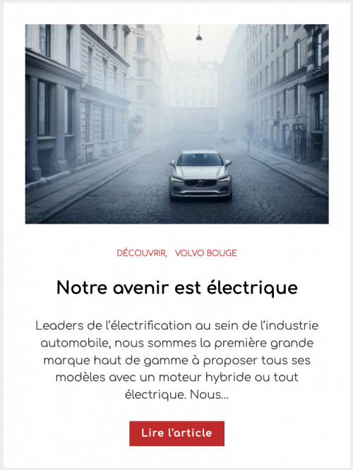 Notre avenir est électrique