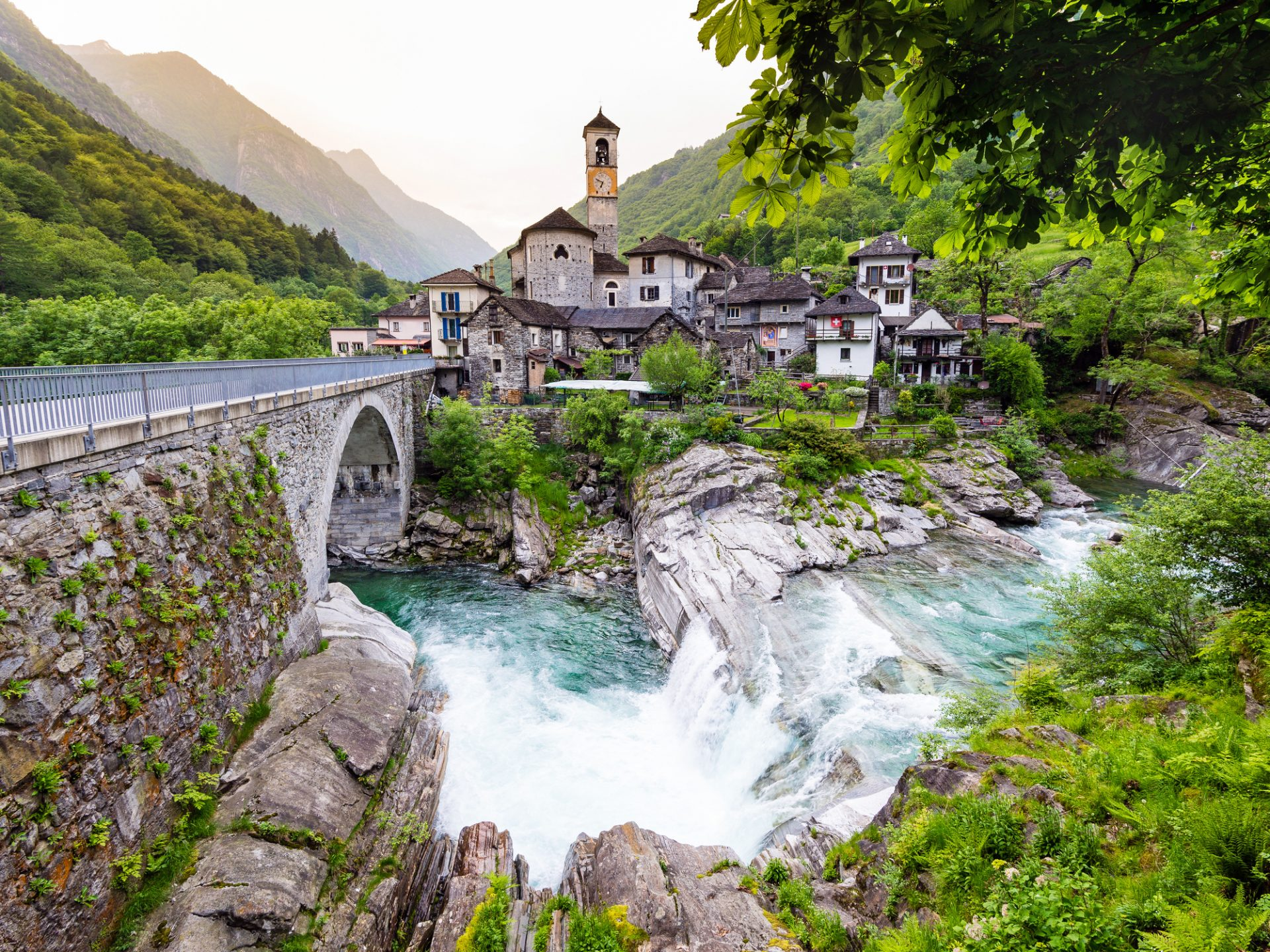 Lavertezzo in Valle Verzasca, Canton Ticino, Switzerland