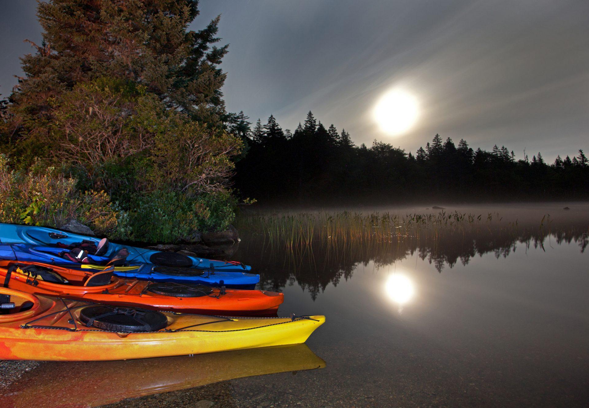 camping at nighttime