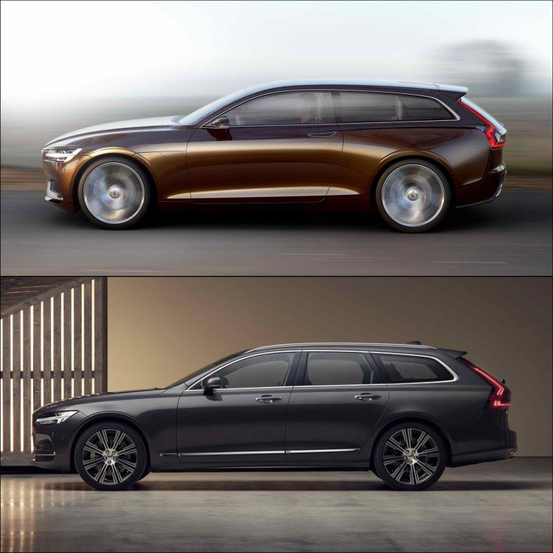 Vergleich Volvo Estate mit V90