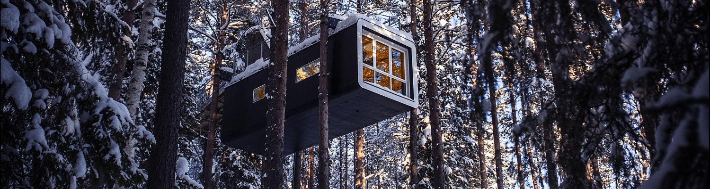 L'incroyable hôtel dans les arbres en Laponie