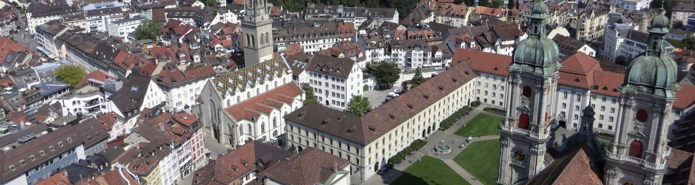 Fantastiska Stopp – à la découverte des sites suisses de l'UNESCO avec Volvo: le domaine conventuel de Saint-Gall