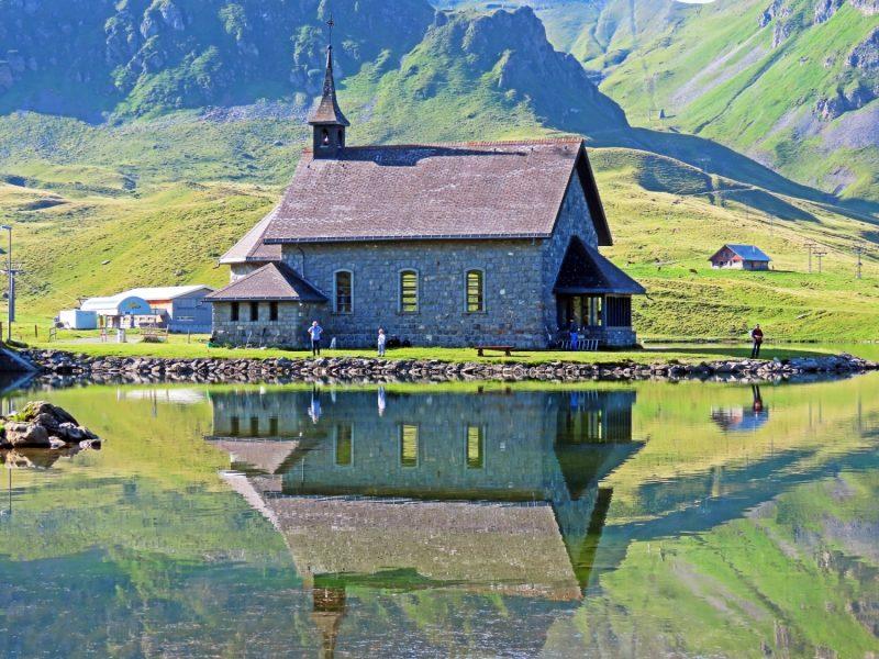 Melchsee Chapel, Melchsee Chapel, Frutt Chapel or Chapel at Lake Melchsee, Melchtal – Canton of Obwald, Switzerland (Canton Obwalden, Switzerland)