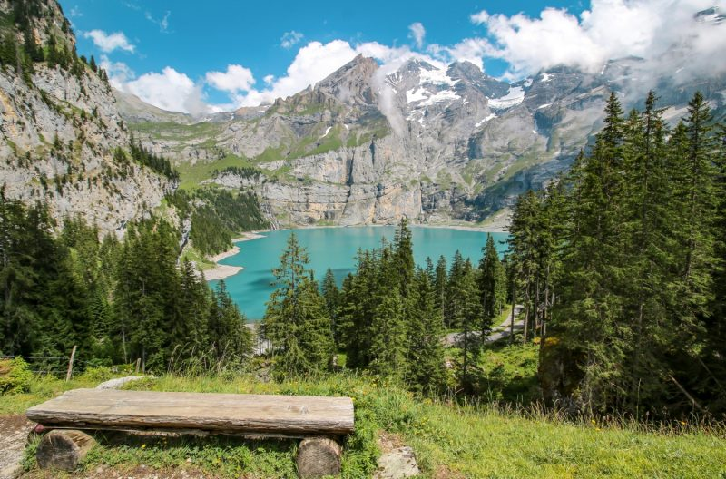 Oeschinensee in the Swiss Alps