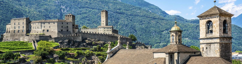 Unterwegs zu den Schweizer UNESCO-Welterbestätten: Tre Castelli, Bellinzona
